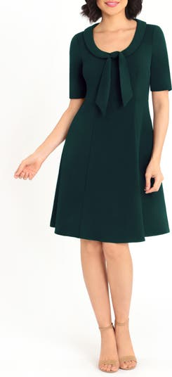 Short Sleeve Necktie Dress Donna Morgan