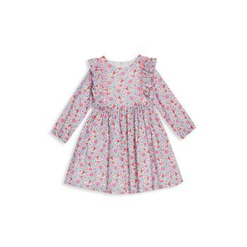 Детские & amp; Платье для маленьких девочек с цветочными оборками Pippa & Julie