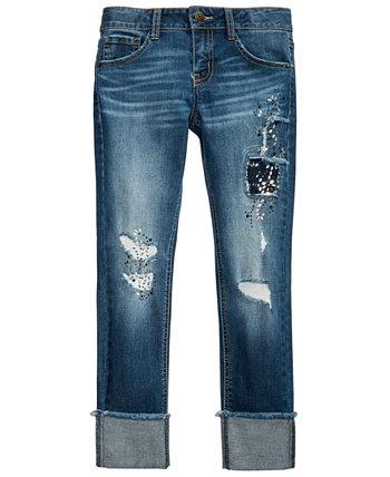 Рваные джинсы для девочек с заплатками Imperial Star