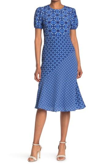 Платье-комбинация с косым вырезом и драгоценным вырезом Donna Morgan