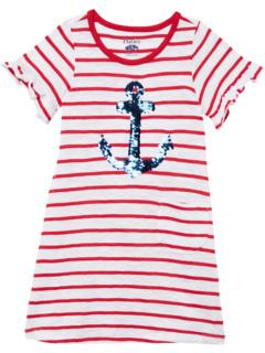 Футболка-рубашка с якорями и пайетками-флип (для малышей / маленьких детей / старших детей) Hatley Kids