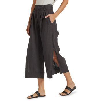Широкие льняные брюки Paloma Joie