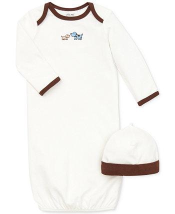 Baby Boys Симпатичные щенки, платье и шляпа Little Me