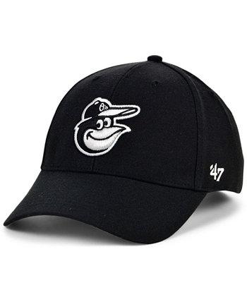 Бейсболка Baltimore Orioles Black White MVP '47 Brand