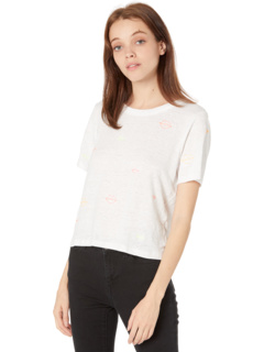 Linen Jersey Cropped Short Sleeve Easy Tee Chaser