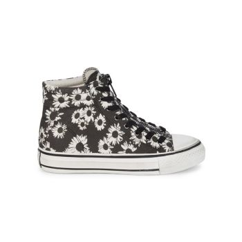 As-Grant Floral High-Top Sneakers ASH
