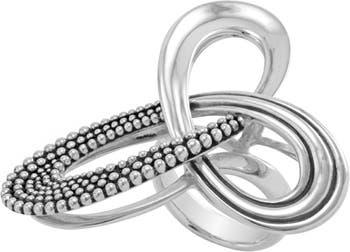 Кольцо-пируэт из стерлингового серебра, размер 7 LAGOS
