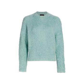 Беседка из альпаки & amp; Трикотажный пуловер из смесовой шерсти Rachel Comey