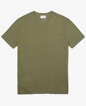 Мужская футболка с V-образным вырезом Lacoste