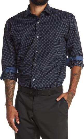 Миниатюрная рубашка с ромбовидным принтом BUGATCHI