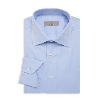 Базовая рубашка стандартного кроя из хлопка Canali