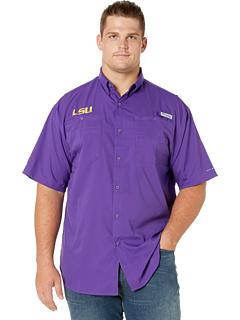 Рубашка с коротким рукавом Big & Tall LSU Tigers Collegiate Tamiami ™ II Columbia College