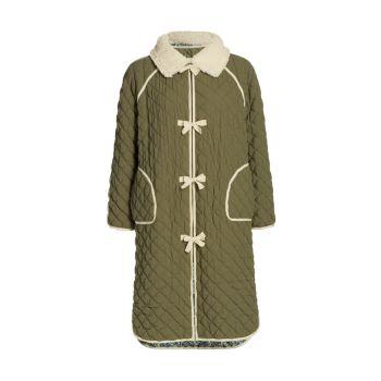 Двусторонняя стеганая длинная куртка The Great