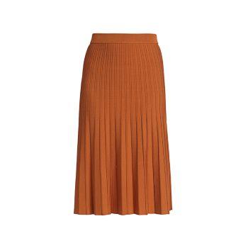 Компактная вязаная плиссированная юбка Ira Jonathan Simkhai