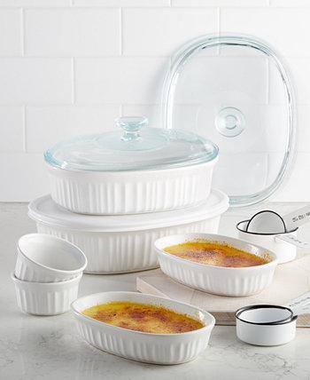 Французский белый 10 шт. Набор форм для выпечки, созданный для Macy's Corningware