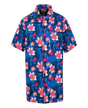 Little Boys Hawaiian Button Up Shirt Hurley