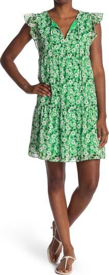 Платье прямого кроя с цветочным принтом и рюшами 19 Cooper