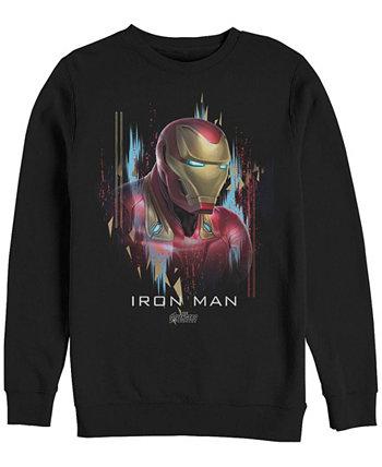 Мужские Мстители: Финал, Железный человек, вид сбоку, флис с круглым вырезом Marvel