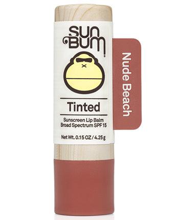 Тонирующий солнцезащитный бальзам для губ SPF 15, 0,15 унции. Sun Bum