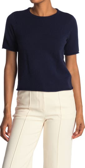 Кашемировая футболка с круглым вырезом CLUB MONACO