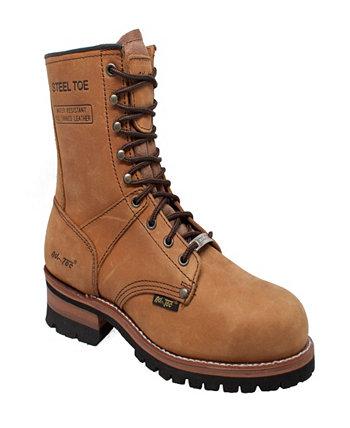 Мужские ботинки Logger со стальным носком 9 дюймов AdTec
