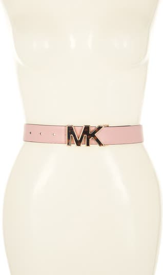 32mm Leather Belt with MK Buckle MICHAEL Michael Kors