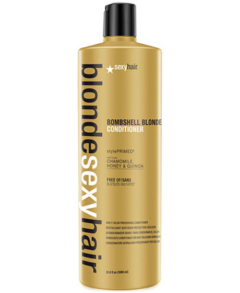 Blonde Sexy Hair Bombshell Blonde Daily Color Conserving Conditioner, 33,8 унции, от PUREBEAUTY Salon & Spa Sexy Hair