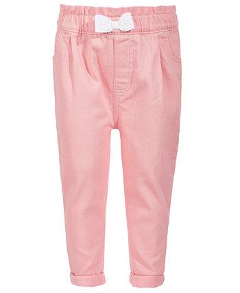 Розовые джинсовые джинсы с бантом для маленьких девочек, созданные для Macy's First Impressions