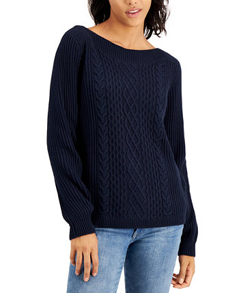 Вязаный свитер с вырезом лодочкой Tommy Hilfiger