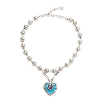 Ожерелье с бусинами и подвеской в форме сердца Pia DANNIJO