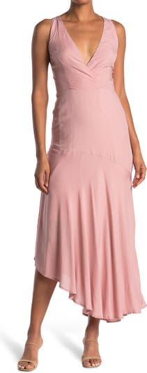 Платье макси с высоким / низким вырезом без рукавов с V-образным вырезом ONE ONE SIX