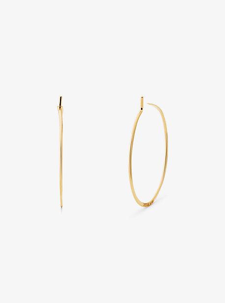Мини-серьги-кольца Whisper из стерлингового серебра с покрытием из драгоценных металлов Michael Kors