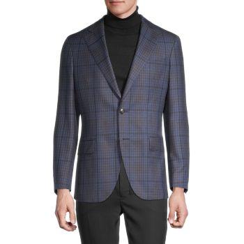 Плед шерстяное спортивное пальто LUBIAM