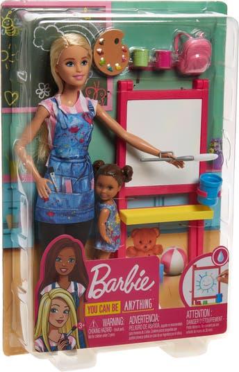 Барби <sup> ® </sup> Игровой набор для учителей рисования Mattel