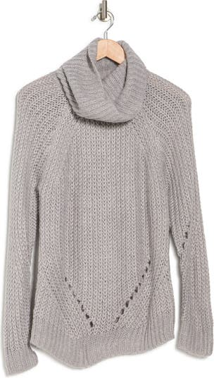 Pointelle Turtle Neck Sweater Cloth By Design