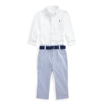 Shirt, Belt & Seersucker Pant Set Ralph Lauren