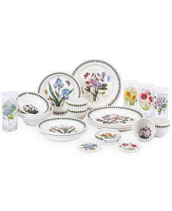 Ботанический сад 25-шт. Набор столовой посуды, сервиз для 4 человек, создан для Macy's Portmeirion