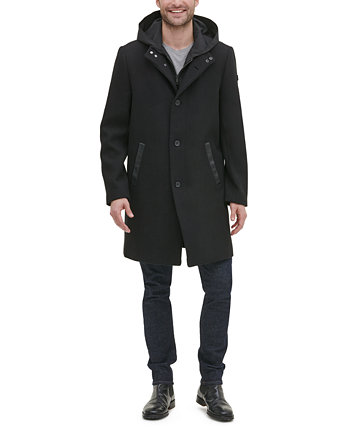 Мужской крылатый воротник с внутренним легким нагрудником и курткой с капюшоном Kenneth Cole New York