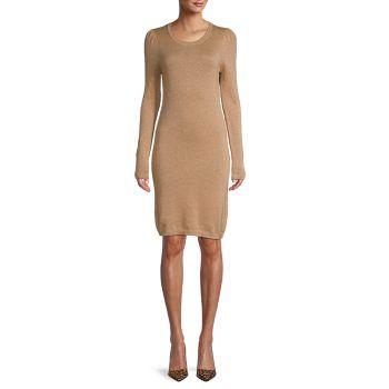 Шерсть и Кашемировое платье-свитер Qi Cashmere
