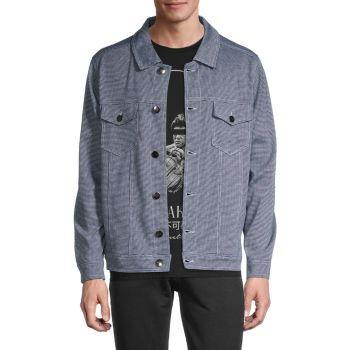 Houndstooth Button-Front Jacket KINETIX