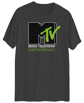 Мужская футболка с короткими рукавами и графическим логотипом MTV Hybrid
