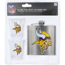 Minnesota Vikings Flask And Shot Glass Set Unbranded