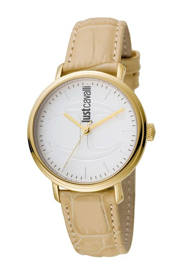 Женские кварцевые часы с тисненым кожаным ремешком, 34 мм Just Cavalli