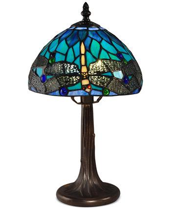 Классическая настольная лампа с акцентом на стрекозу Dale Tiffany