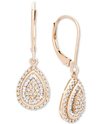 Серьги с бриллиантами Teardrop из 14-каратного белого золота (1/2 каратного веса), созданные для Macy's Wrapped in Love