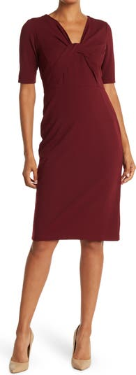 Twist Neck Sheath Dress Donna Morgan