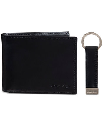 Мужской кошелек Slimfold с RFID и набор брелоков Calvin Klein