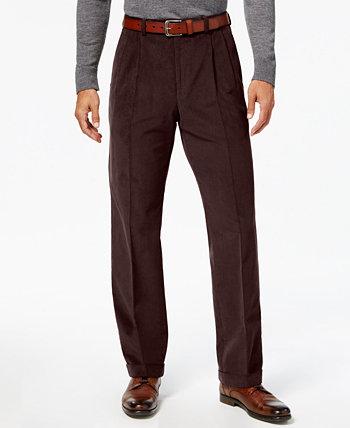 Мужские классические / классические крой вельветовые двойные плиссированные классические брюки Ralph Lauren