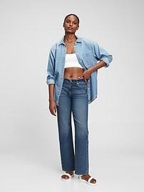 Свободные джинсы 90-х из органического хлопка средней посадки с умывальником Gap