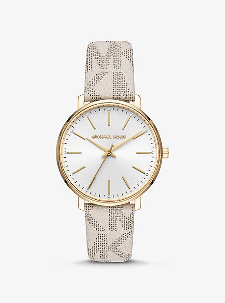 Логотип Pyper и золотые часы Michael Kors